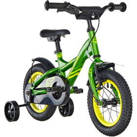 s'cool XXlite 12 Childrens Bike steel green